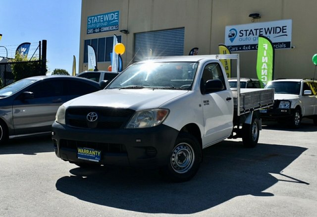 Used Toyota Hilux TGN16R 07 Upgrade Workmate, 2007 Toyota Hilux TGN16R 07 Upgrade Workmate White 5 Speed Manual Cab Chassis