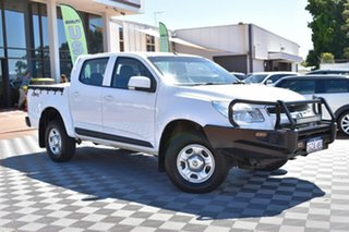 2014 Holden Colorado RG MY14 LX Crew Cab White 6 Speed Manual Utility.