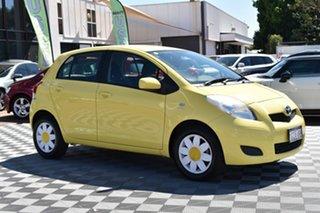 2010 Toyota Yaris NCP90R MY10 YR Yellow 5 Speed Manual Hatchback.