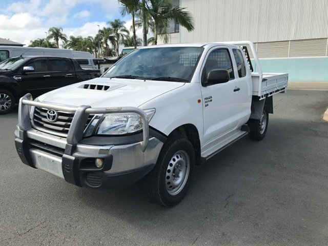 Used Toyota Hilux KUN26R MY14 SR Xtra Cab, 2014 Toyota Hilux KUN26R MY14 SR Xtra Cab Glacier 5 speed Manual Cab Chassis