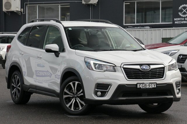 Demo Subaru Forester MY20 2.5I Premium (AWD), 2019 Subaru Forester MY20 2.5I Premium (AWD) Crystal White Pearl Continuous Variable Wagon