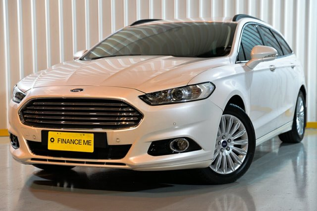 Used Ford Mondeo MD Trend PwrShift, 2015 Ford Mondeo MD Trend PwrShift White 6 Speed Sports Automatic Dual Clutch Wagon