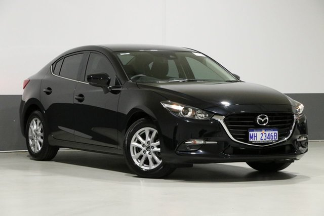 Used Mazda 3 BN MY18 Maxx Sport (5Yr), 2019 Mazda 3 BN MY18 Maxx Sport (5Yr) Black 6 Speed Automatic Sedan