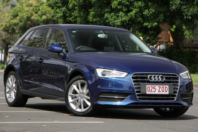 Used Audi A3 8V MY15 Attraction Sportback S Tronic, 2014 Audi A3 8V MY15 Attraction Sportback S Tronic Blue 7 Speed Sports Automatic Dual Clutch
