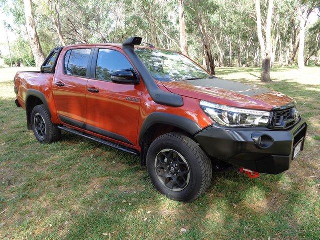 Demo Toyota Hilux GUN126R Rugged X Double Cab, 2019 Toyota Hilux GUN126R Rugged X Double Cab Inferno 6 Speed Sports Automatic Utility
