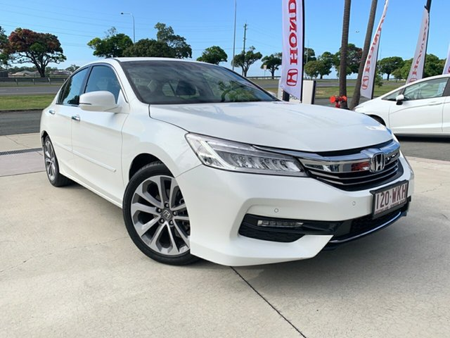 Used Honda Accord 9th Gen MY16 VTi-L, 2016 Honda Accord 9th Gen MY16 VTi-L White 5 Speed Sports Automatic Sedan