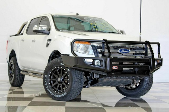 Used Ford Ranger PX XLT 3.2 (4x4), 2015 Ford Ranger PX XLT 3.2 (4x4) White 6 Speed Automatic Dual Cab Utility