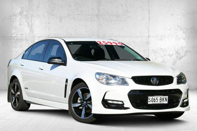 Used Holden Commodore VF II MY16 SV6 Black, 2016 Holden Commodore VF II MY16 SV6 Black Herron White 6 Speed Sports Automatic Sedan
