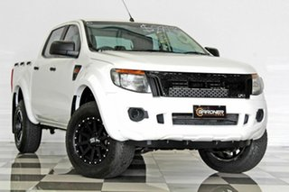 2014 Ford Ranger PX XL 2.2 Hi-Rider (4x2) White 6 Speed Manual Crew Cab Pickup