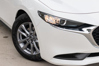 2020 Mazda 3 BP2S7A G20 SKYACTIV-Drive Pure Snowflake White Pearl 6 Speed Sports Automatic Sedan.