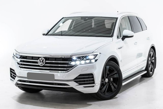 Used Volkswagen Touareg CR MY19 190TDI Tiptronic 4MOTION Launch Edition, 2019 Volkswagen Touareg CR MY19 190TDI Tiptronic 4MOTION Launch Edition White 8 Speed