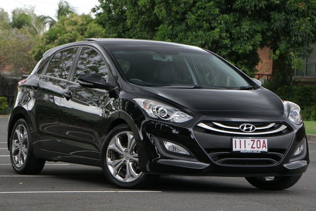 Used Hyundai i30 GD Premium, 2012 Hyundai i30 GD Premium Black 6 Speed Sports Automatic Hatchback