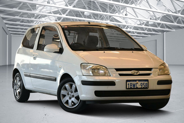 Used Hyundai Getz TB GL, 2004 Hyundai Getz TB GL Noble White 5 Speed Manual Hatchback