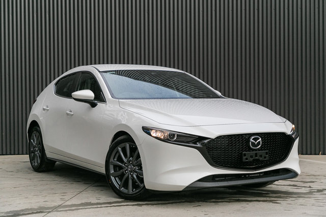 New Mazda 3 BP2H7A G20 SKYACTIV-Drive Evolve, 2020 Mazda 3 BP2H7A G20 SKYACTIV-Drive Evolve Snowflake White Pearl 6 Speed Sports Automatic