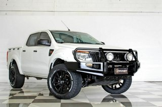 2013 Ford Ranger PX XL 2.2 Hi-Rider (4x2) White 6 Speed Automatic Crew Cab Pickup.