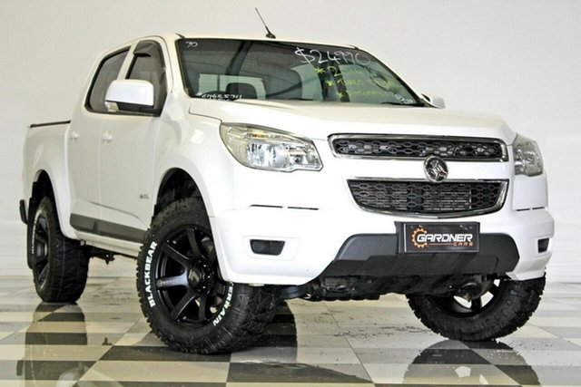 Used Holden Colorado RG MY14 LX (4x2), 2014 Holden Colorado RG MY14 LX (4x2) White 6 Speed Automatic Crew Cab Pickup