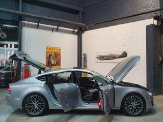 2011 Audi A7 4G Sportback S Tronic Quattro Silver 7 Speed Sports Automatic Dual Clutch Hatchback.