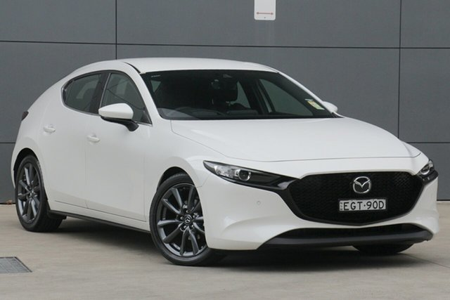 Demo Mazda 3 BP2H7A G20 SKYACTIV-Drive Touring, 2019 Mazda 3 BP2H7A G20 SKYACTIV-Drive Touring Snowflake White 6 Speed Sports Automatic Hatchback