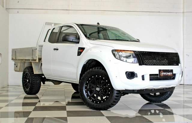 Used Ford Ranger PX XL 2.2 Hi-Rider (4x2), 2015 Ford Ranger PX XL 2.2 Hi-Rider (4x2) White 6 Speed Automatic Super Cab Chassis