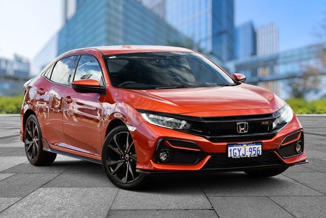 Demo Honda Civic 10th Gen MY20 RS, 2020 Honda Civic 10th Gen MY20 RS Phoenix Orange 1 Speed Constant Variable Hatchback