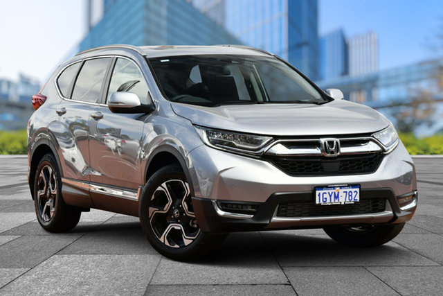 Demo Honda CR-V RW MY20 VTi-LX 4WD, 2019 Honda CR-V RW MY20 VTi-LX 4WD Lunar Silver 1 Speed Constant Variable Wagon