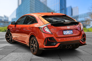 2020 Honda Civic 10th Gen MY20 RS Phoenix Orange 1 Speed Constant Variable Hatchback.