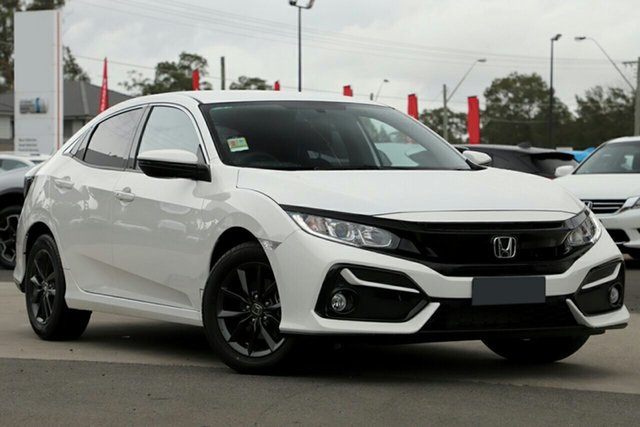 New Honda Civic 10th Gen MY20 VTi-S, 2020 Honda Civic 10th Gen MY20 VTi-S Taffeta White 1 Speed Constant Variable Sedan