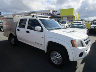 2009 Holden Colorado RC MY09 LX Crew Cab White 5 Speed Manual Cab Chassis.
