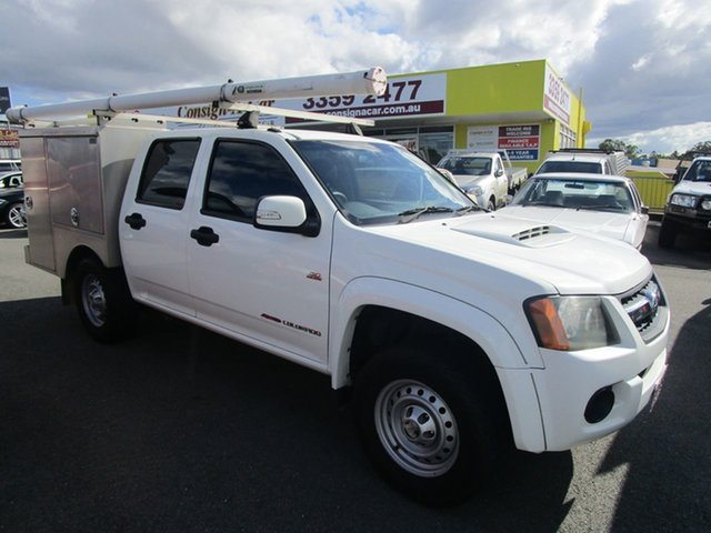 Used Holden Colorado RC MY09 LX Crew Cab, 2009 Holden Colorado RC MY09 LX Crew Cab White 5 Speed Manual Cab Chassis