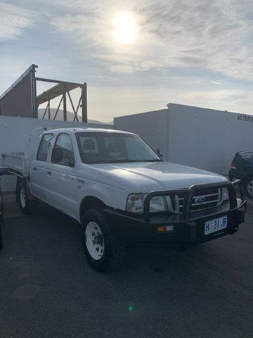 Used Ford Courier PH GL Crew Cab, 2005 Ford Courier PH GL Crew Cab White 5 Speed Manual Cab Chassis