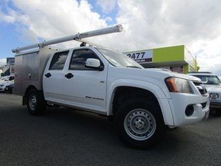 2009 Holden Colorado RC MY09 LX Crew Cab White 5 Speed Manual Cab Chassis