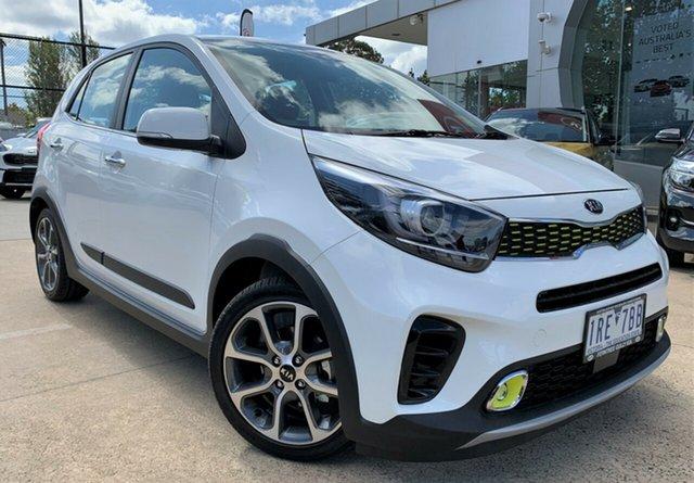 Demo Kia Picanto JA MY20 X-Line, 2019 Kia Picanto JA MY20 X-Line Clear White 4 Speed Automatic Hatchback