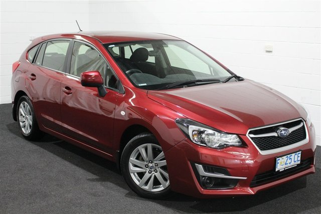 Used Subaru Impreza G4 MY16 2.0i Lineartronic AWD, 2016 Subaru Impreza G4 MY16 2.0i Lineartronic AWD Red/Black 6 Speed Constant Variable Hatchback