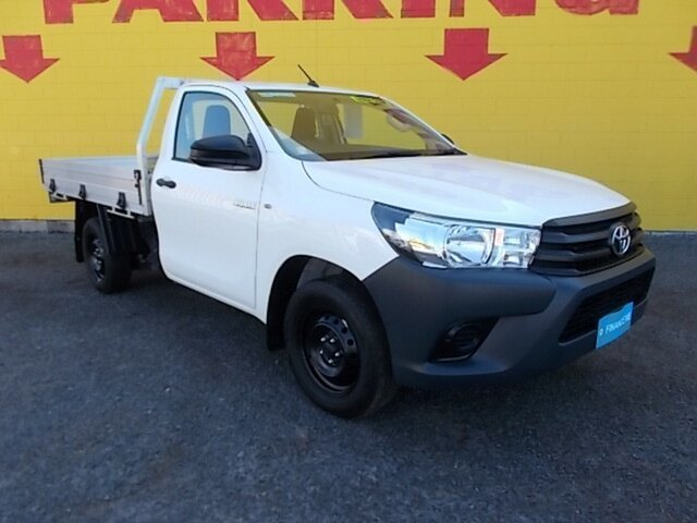 Used Toyota Hilux TGN121R Workmate 4x2, 2017 Toyota Hilux TGN121R Workmate 4x2 White 6 Speed Sports Automatic Cab Chassis