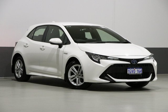 Used Toyota Corolla ZWE211R Ascent Sport Hybrid, 2019 Toyota Corolla ZWE211R Ascent Sport Hybrid White Continuous Variable Hatchback