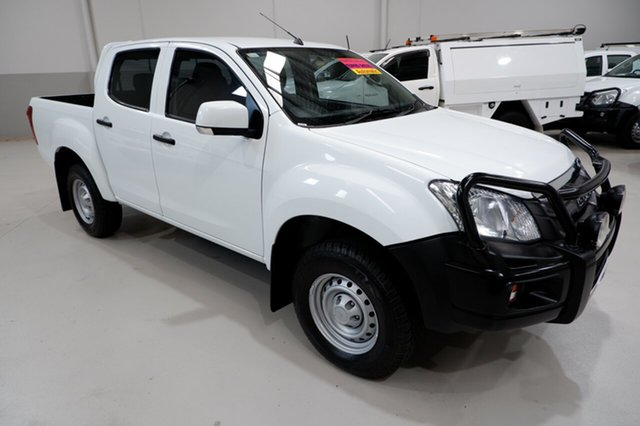 Used Isuzu D-MAX MY15 SX Crew Cab 4x2 High Ride, 2016 Isuzu D-MAX MY15 SX Crew Cab 4x2 High Ride White 5 Speed Sports Automatic Utility