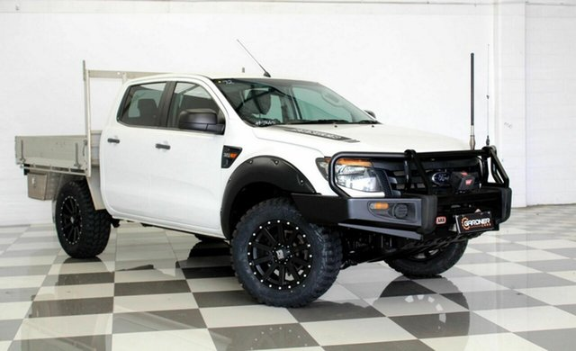 Used Ford Ranger PX XL 3.2 (4x4), 2012 Ford Ranger PX XL 3.2 (4x4) White 6 Speed Automatic Dual Cab Chassis