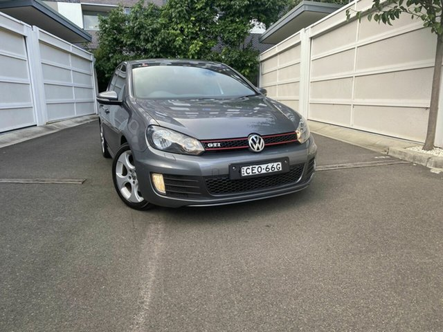 Used Volkswagen Golf VI MY12.5 GTI DSG, 2012 Volkswagen Golf VI MY12.5 GTI DSG Grey 6 Speed Sports Automatic Dual Clutch Hatchback