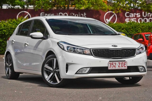 Used Kia Cerato YD MY18 Sport+, 2017 Kia Cerato YD MY18 Sport+ White 6 Speed Sports Automatic Hatchback