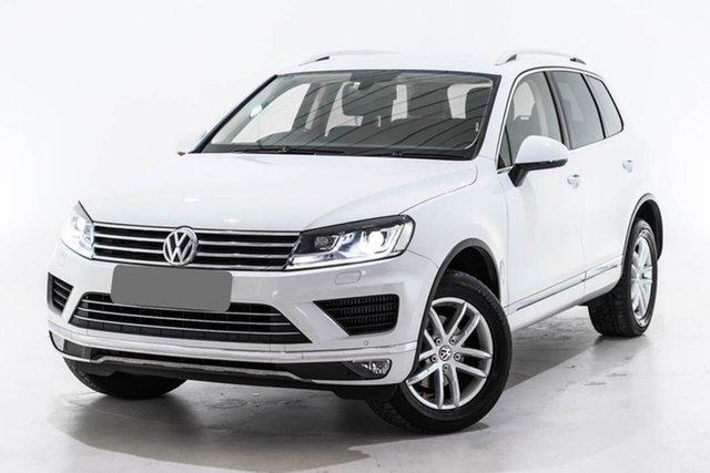 Used Volkswagen Touareg 7P MY16 150TDI Tiptronic 4MOTION Element, 2016 Volkswagen Touareg 7P MY16 150TDI Tiptronic 4MOTION Element White 8 Speed Sports Automatic