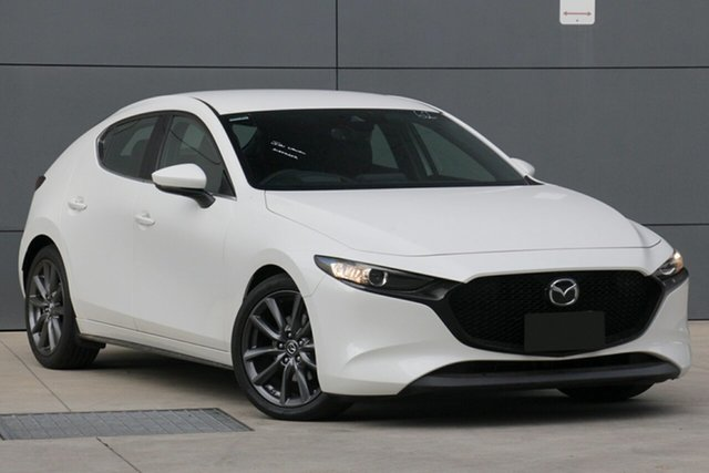 Used Mazda 3 BP2HLA G25 SKYACTIV-Drive GT, 2019 Mazda 3 BP2HLA G25 SKYACTIV-Drive GT Snowflake White 6 Speed Sports Automatic Hatchback