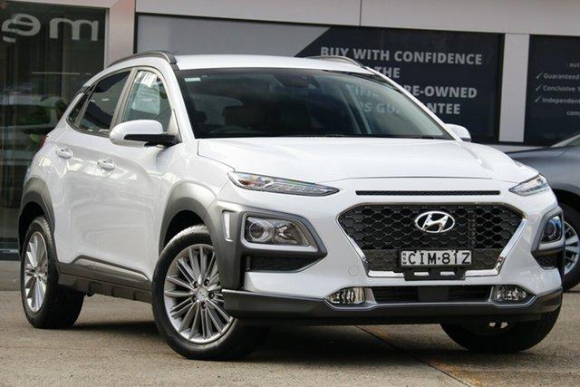 Used Hyundai Kona OS.2 MY19 Elite (AWD), 2019 Hyundai Kona OS.2 MY19 Elite (AWD) White 7 Speed Auto Dual Clutch Wagon