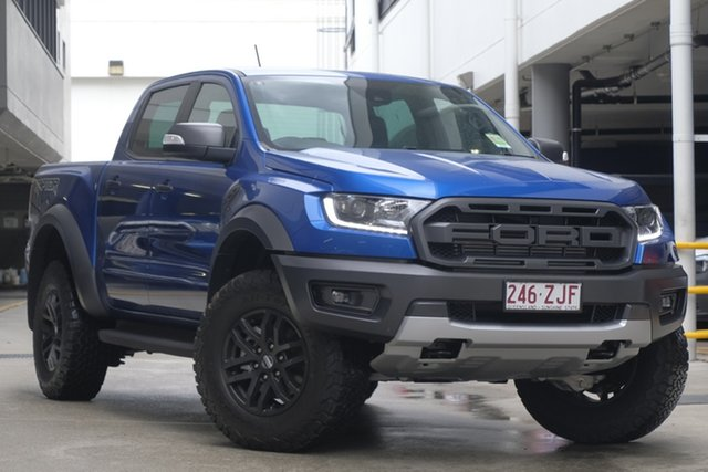 Demo Ford Ranger PX MkIII 2019.75MY Raptor Pick-up Double Cab, 2019 Ford Ranger PX MkIII 2019.75MY Raptor Pick-up Double Cab Blue Lightning 10 Speed