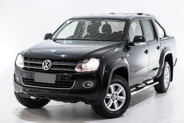 Used Volkswagen Amarok 2H MY15 TDI420 4Motion Perm Highline, 2015 Volkswagen Amarok 2H MY15 TDI420 4Motion Perm Highline Black 8 Speed Automatic Utility