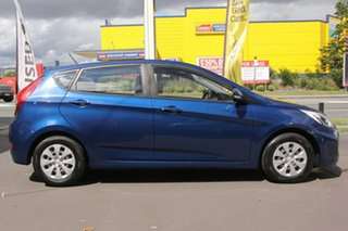 2016 Hyundai Accent RB3 MY16 Active Blue 6 Speed Manual Hatchback.