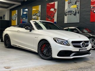 2017 Mercedes-Benz C-Class A205 C63 AMG S White Sports Automatic Cabriolet.