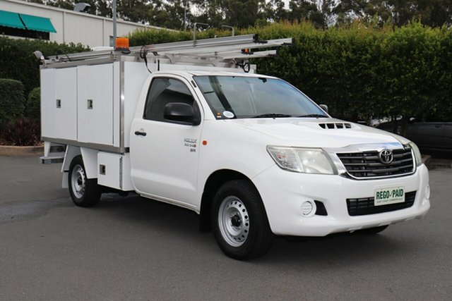 Used Toyota Hilux KUN16R MY12 Workmate 4x2, 2012 Toyota Hilux KUN16R MY12 Workmate 4x2 Glacier 5 speed Manual Cab Chassis