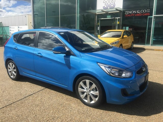 Used Hyundai Accent RB6 MY19 Sport, 2019 Hyundai Accent RB6 MY19 Sport Blue 6 Speed Sports Automatic Hatchback