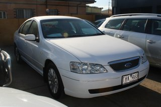 2004 Ford Fairmont BA White 4 Speed Auto Seq Sportshift Sedan.