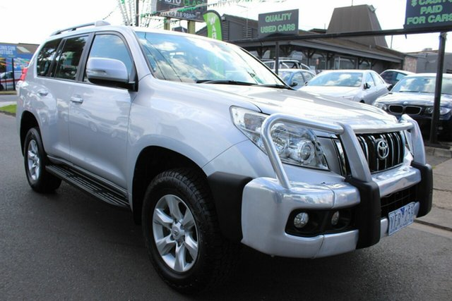 Used Toyota Landcruiser Prado KDJ150R GXL West Footscray, 2011 Toyota Landcruiser Prado KDJ150R GXL Silver 5 Speed Sports Automatic Wagon
